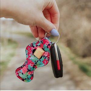 Neoprene Lippy Holder Keychain + Lanyard